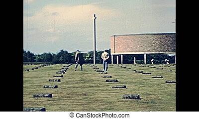 German War Cemetery of Huisnes Sur Mer town in the 70s....