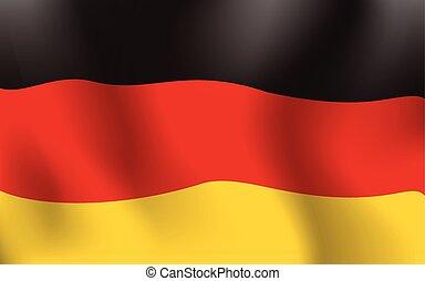 German Waving Flag Background Color