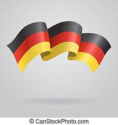 German waving Flag. Vector illustration