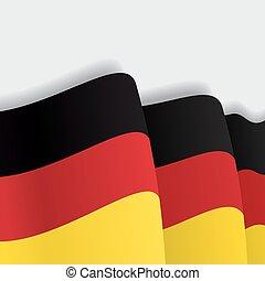 German waving Flag. Vector illustration.