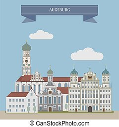 germania, augsburg, città