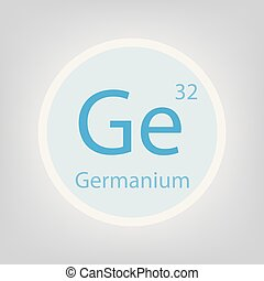 germanium, chimique, ge, élément, icône