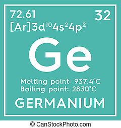 Germanium. Metalloids. Chemical Element of Mendeleev's Periodic Table.