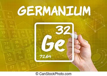 germanium, químico, símbolo, elemento