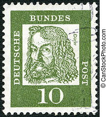 GERMANY - 1961: shows Albrecht Durer (1471-1528) - GERMANY -...