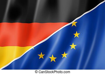 Germany and Europe flag - Mixed German and european Union ...