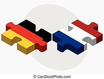 Germany and Netherlands Flags - Vector Image - Germany and...
