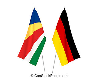 Germany and Seychelles flags - National fabric flags of ...