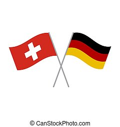 Germany and Switzerland flags vector isolated on white background