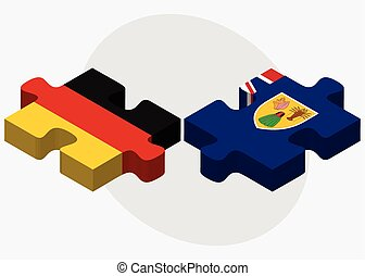 Germany and Turks and Caicos Islands Flags in puzzle...