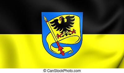 germany., (baden-wurttemberg), ludwigsburg, ville, drapeau