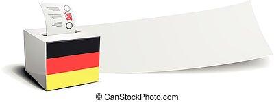 Germany Banner Ballot - ballot box with national flag of...