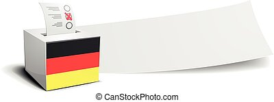 Germany Banner Ballot - ballot box with national flag of...