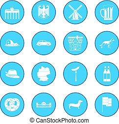 Germany black icon blue