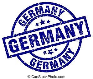 Germany blue round grunge stamp