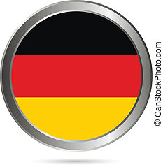 Germany button. The colors of the original.