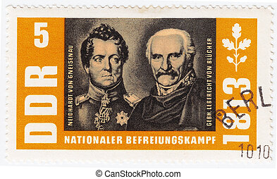 GERMANY- CIRCA 1963 : stamp printed in Germany shows...