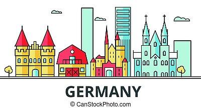 Germany city skyline.