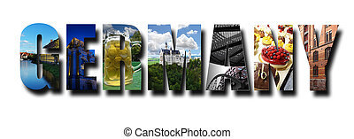 Germany collage banner on white