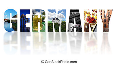 Germany collage isolated on white