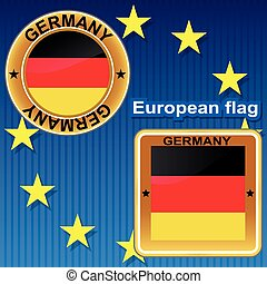 Germany european flag.
