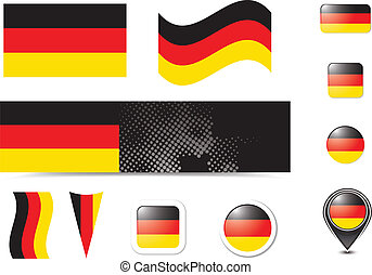 Germany flag and buttons