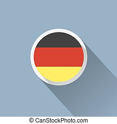 Germany Flag Button Icon
