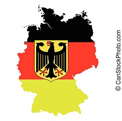 Germany Flag - Flag coat of arms of the Federal Republic of ...