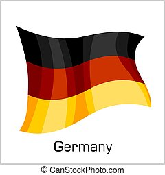Germany flag, flag of Germany in vector illustration