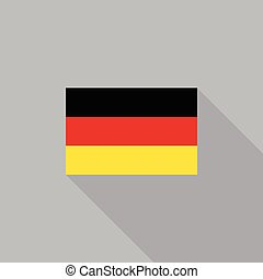 Germany flag flat design vector illustration