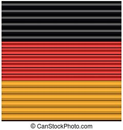 Germany flag, flat design. Vector illustration.