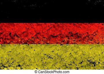 Germany flag grunge background