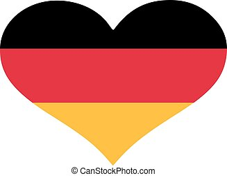 Germany flag heart