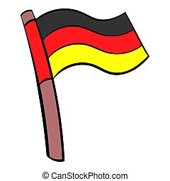 Germany flag icon cartoon