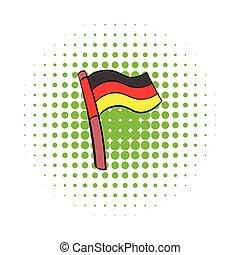 Germany flag icon, comics style