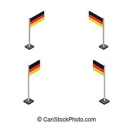 germany flag icon illustrated in vector on white background