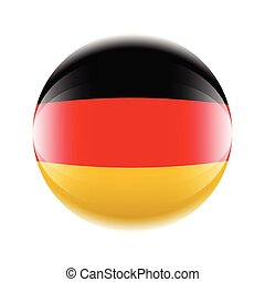 Germany flag icon in the form of a ball. Vector eps 10