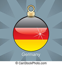 Germany flag in christmas bulb