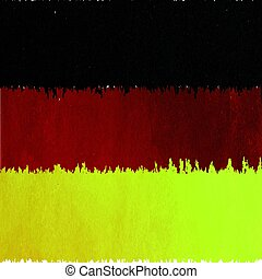 Germany Flag In Grunge