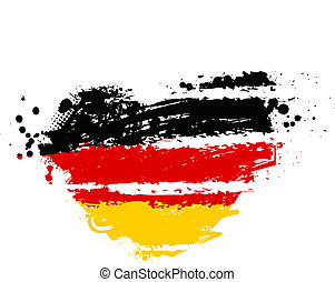 Germany flag in heart shape