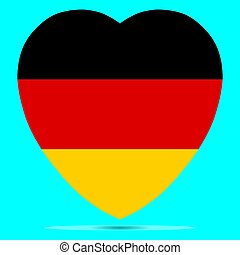 Germany Flag In Heart Shape Vector illustration eps 10