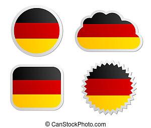 Germany flag labels