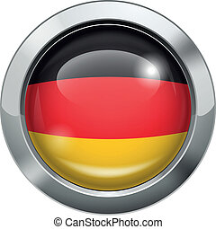 Germany flag metal button