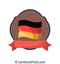 germany flag national emblem banner