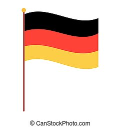 germany flag national isolated icon over white background ...