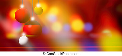 Germany flag on Christmas ball with blurred and abstract background.