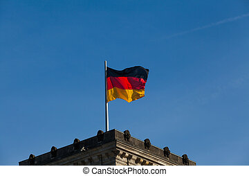 germany flag on fky background