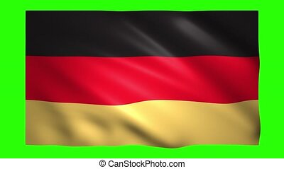 Germany flag on green screen for chroma key