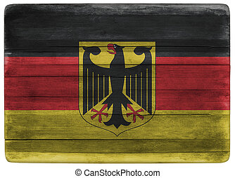 Germany flag on wooden board