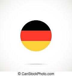 Germany flag round icon